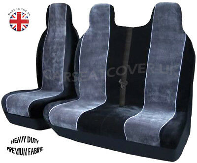 Mitsubishi ASX LUXURY GREY/WHITE VAN SEAT COVERS - Single + Double
