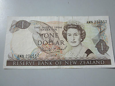 $1 New Zealand Brash note with printing error.