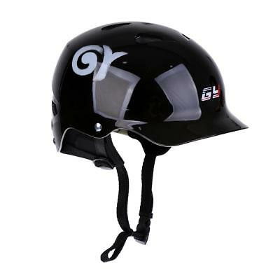 Gloss Black Small 56-58cm Water Sports Helmet - Kayak Canoe Surfing Safety