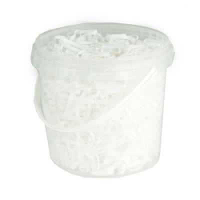 Horze Silicone Braiding Bands White 26213-WH