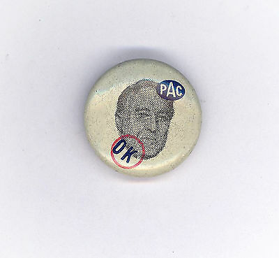 "* Superb 1936  ~ "" ROOSEVELT - PAC OK "" ~ Union Campaign Button"