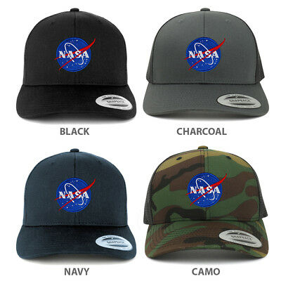 ab9cd8af203ba SMALL NASA INSIGNIA Embroidered Patch Emblem Snapback Mesh Trucker ...