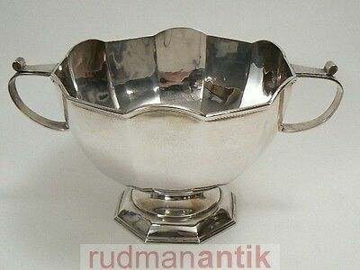 grosse SCHALE ROSEBOWL massiv STERLING SILBER 925 MARTIN HALL SHEFFIELD 1929