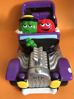 "¤Galerie 2003 M&m Halloween Purple Convertible 9"" L Car Candy Dish"