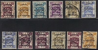 PALESTINE 1921-2 COLL. OF 12 HIGH VALUES USED 2, 5, 9, 10 & 20 pi VERY FINE USED