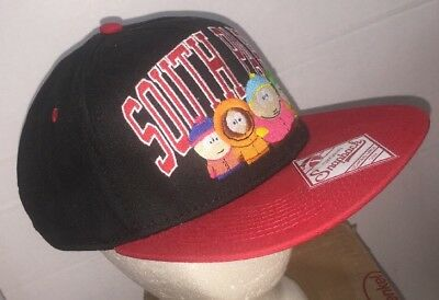 South Park Snapback Embroidered Cap Hat w Visor Label 2011 Comedy Partners