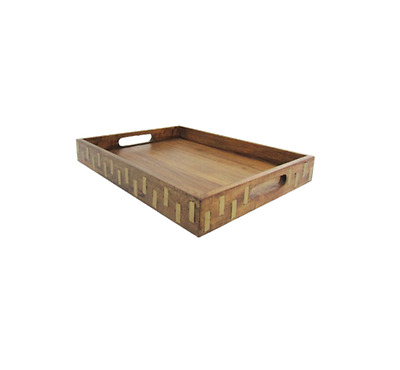 Wood Tray with Gold Inlay - Threshold
