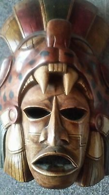 Indian Wooden Mask Hand Carved