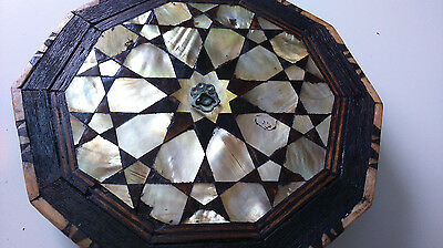 Antique IslamiC Ottoman Mirror 19TH with mother of pearl inlay