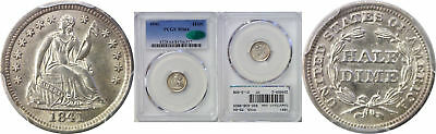 1841 Seated Liberty Half Dime PCGS MS-64 CAC