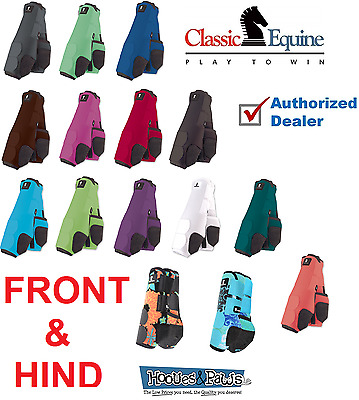 Classic Equine  Boots System Legacy FRONT HIND LEG Plain Sport SMB Horse Tack