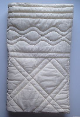 Marie Chantal Designer Baby Quilt Cot Blanket Cream Padded With Dust Bag