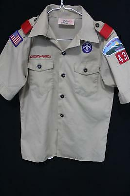 Youth BOY SCOUTS OF AMERICA BSA Official Uniform SHIRT M
