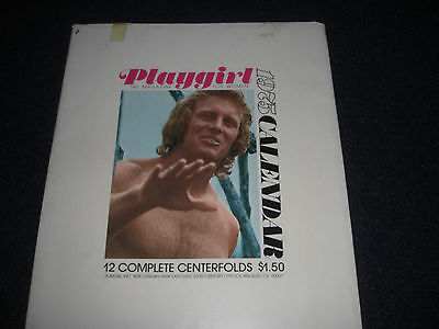 Playgirl Calendar with Slip Case 1975  Vintage
