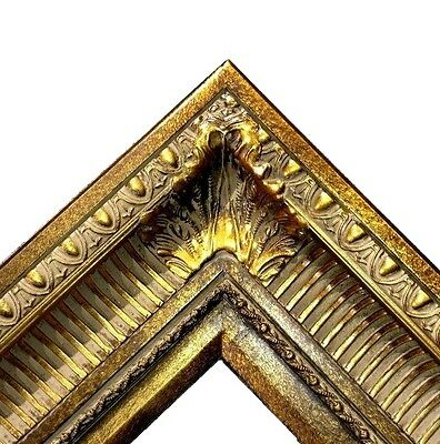 "4.25"" WIDE Dark Bronze Ornate Oil Painting Wood Picture Frame 655D frames4art"
