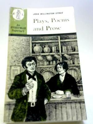 Plays Poems and Prose Book (John Millington Synge - 1968) (ID:72094)
