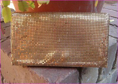 Vintage Retro Oroton Era Park Lane Gold Mesh Purse Wallet Evening Clutch