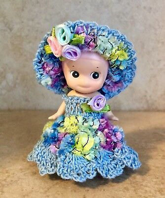 "Hand Crochet Clothes 2PS. Dress Set Fits 3"" Dreams Toy Sonny Angel Baby-1"