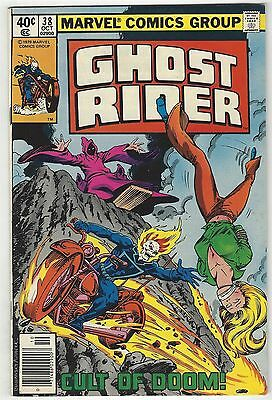 Ghost Rider 38! F/vf 7.0! Great Bronze Age Marvel Comic Book!