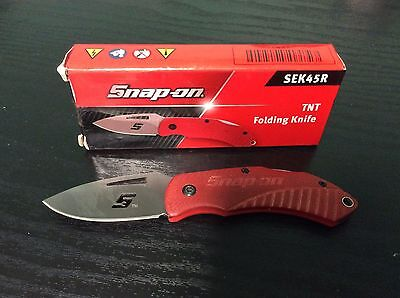 Snap on tools rare small TNT folding pocket knife new snap on tools RED