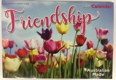 2018 Wall Calendar Friendship A4 Australian Made Free Shipping