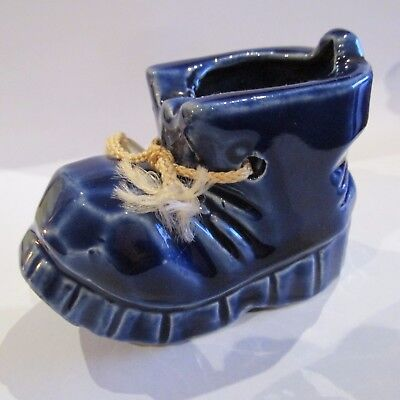 Vintage 1950s Ceramic Glazed Ornamental Boot Tooth Pick Holder Mid Century Home