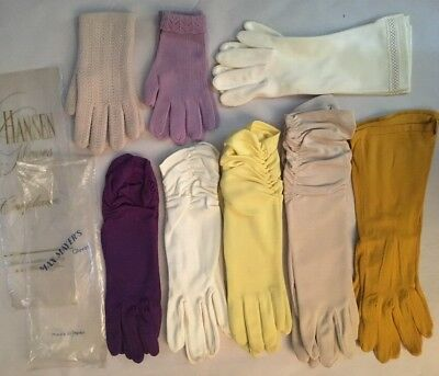 Vintage Lot of 8 Pair Ladies Gloves 1950s-1960s