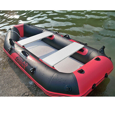 Outdoor Fishing Inflatable Boat Kayak 2 Person Canoe Raft Oars Foot Pump Sports