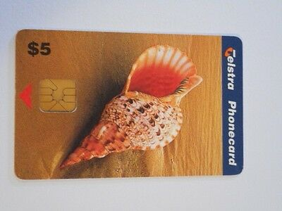 Telstra Phonecard $5 Value Sea Shell.