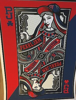 Pearl Jam Boston Fenway Mark5 limited edition #/300 poster