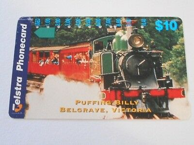 Telstra Phonecard $10 value PUFFING BILLY.
