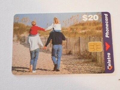 Telstra Phonecard $20 Value 'Family' Pic.