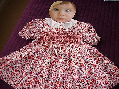 New Smocked Princess Charlotte Style  Embroidered Baby Girl Dress