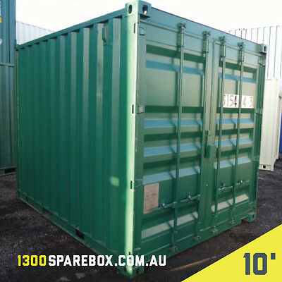 Site Shed Or Storage Shed - 10Ft Shipping Container - With Lockbox