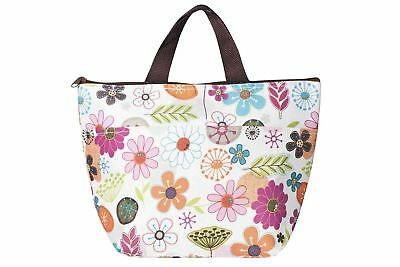 Floral Insulated Cool Lunch Tote Bag Thermal Picnic Carry Case