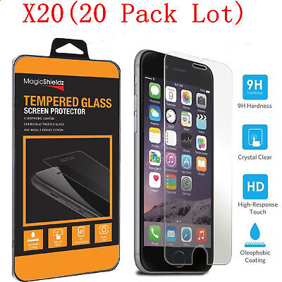 20X Wholesale Lot Real Tempered Glass Screen Protector for Apple iPhone 7 Plus