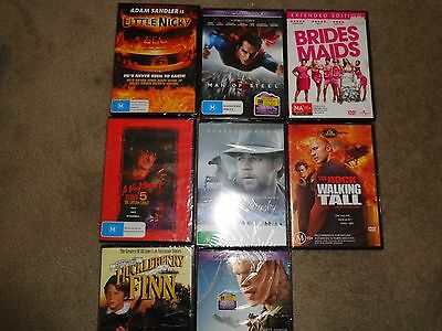 Bulk DVDs Unused Sealed 9 Movies Assorted Ratings PG - MA