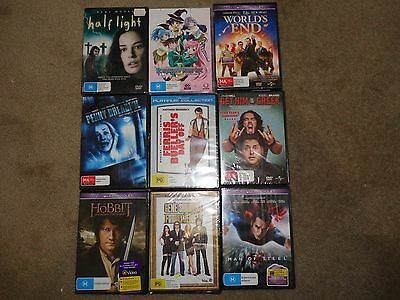 Bulk DVDs Unused Sealed 9 Assorted Movies PG to MA