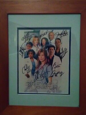 Grey's anatomy autographed picture and frame