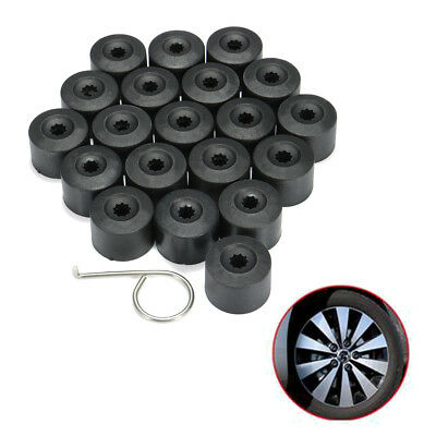 20Pcs Set Wheel Lug Nut Bolt Tire Screw Dust Cover Cap Dismantle Tool For VW