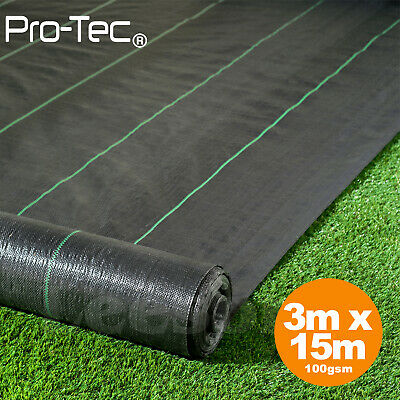 3m x 15m ground cover fabric landscape garden weed control heavy duty membrane