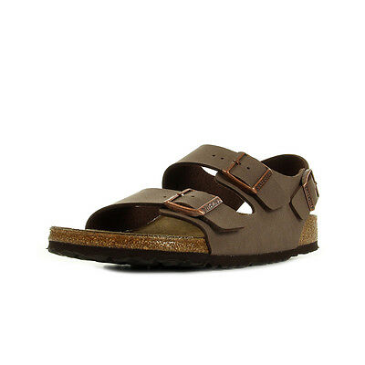 Sandales Nu Pieds Birkenstock homme Milano Mocca taille Marron Synthétique A