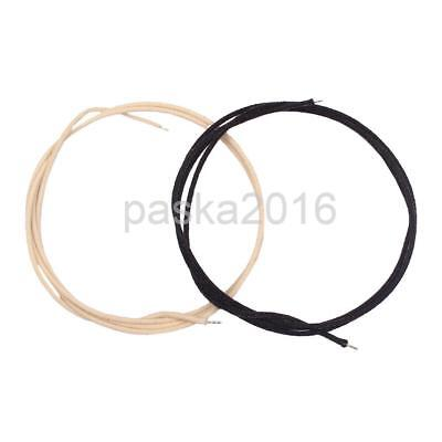 2 Pieces Single-conductor Braided Push-Back Guitar Wire 22awg Black&White