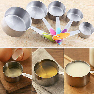 High Quality Stainless Steel Measuring Cups and Spoons Kitchen Tool 5Pcs/Set