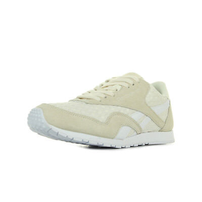 c3d8f7542e6 Chaussures Baskets Reebok femme Cl Nylon Slim Architect taille Blanc Blanche