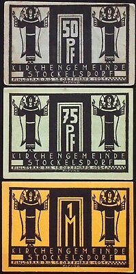 STOCKELSDORF 1921 larger complete series German Notgeld