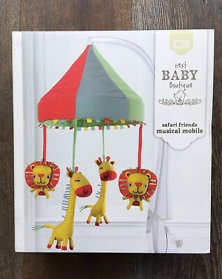 NEXT BABY Musical COT MOBILE JUNGLE SAFARI Nursery BRAND NEW IN BOX Animals