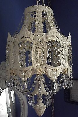 ANTIQUE Vintage French Victorian PARIS Ornate Crystal Chandelier
