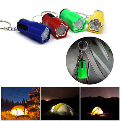 Creative LED Flash Light Keychain Key Ring Accessory Outdoor Camping Tool Gift