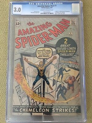 Spider-Man #1 CGC 3.0 !! 1963 !! Mega Silver Age Key !! Original And Unrestored